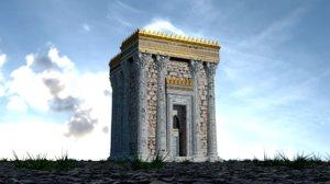 3D herod s temple decrepit model