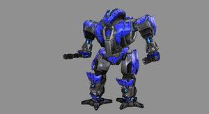 3D robots gatling gun model