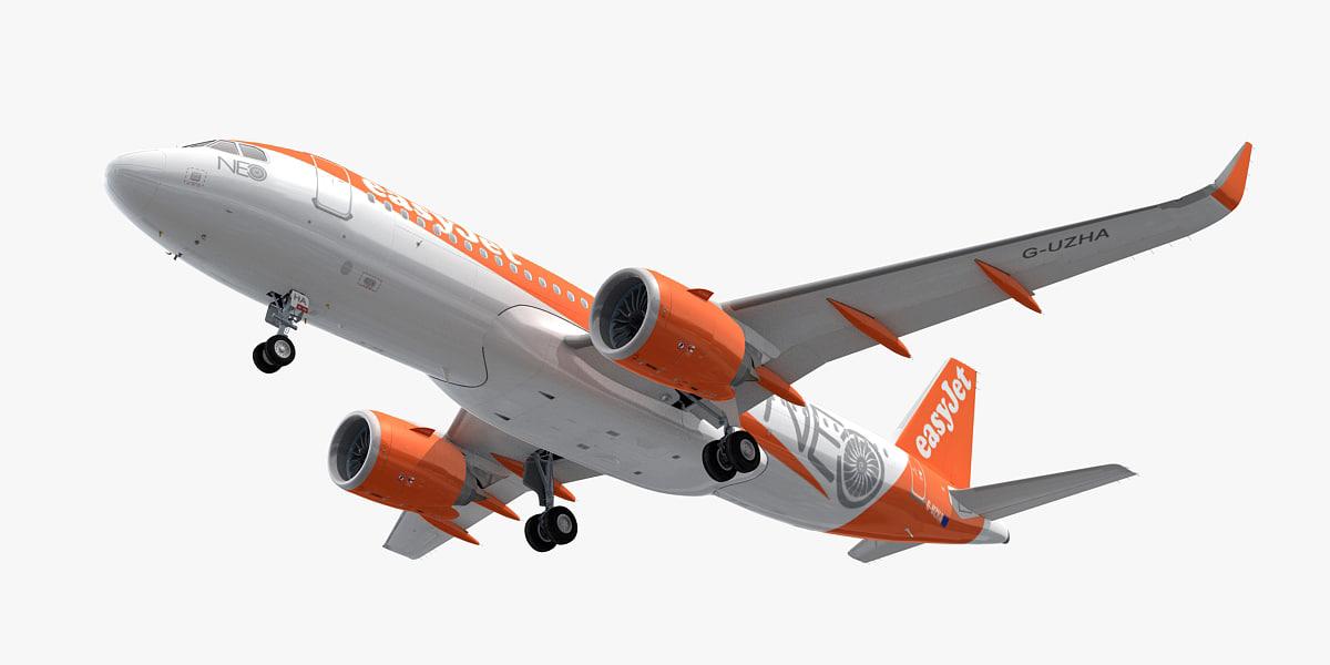 3d Airbus A320neo Easyjet Turbosquid 1171061