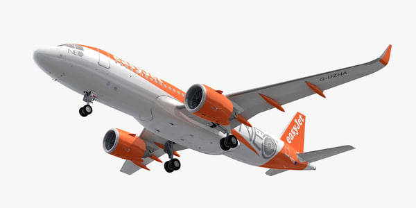 3D airbus a320neo easyjet