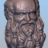 dwarf head 3D model