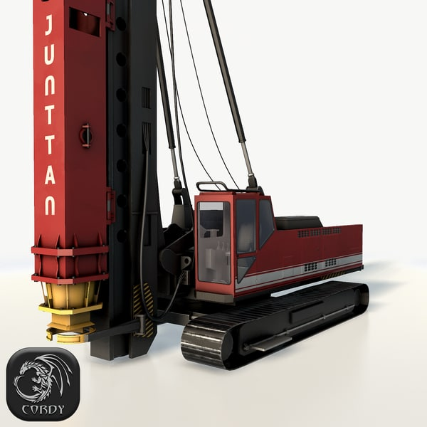 3D rotary drilling rig model