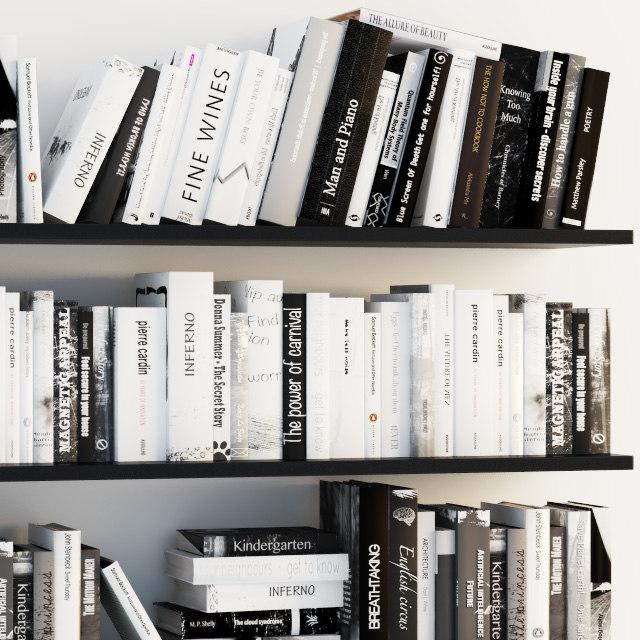 books shelves 3D model