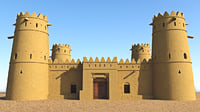 3D arab fort