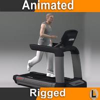 3D running male model