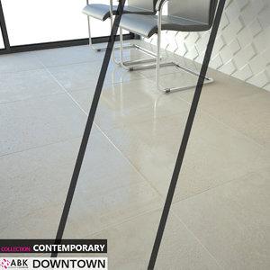 3D tile abk contemporary downtown model
