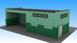 railway station op 203 3D model
