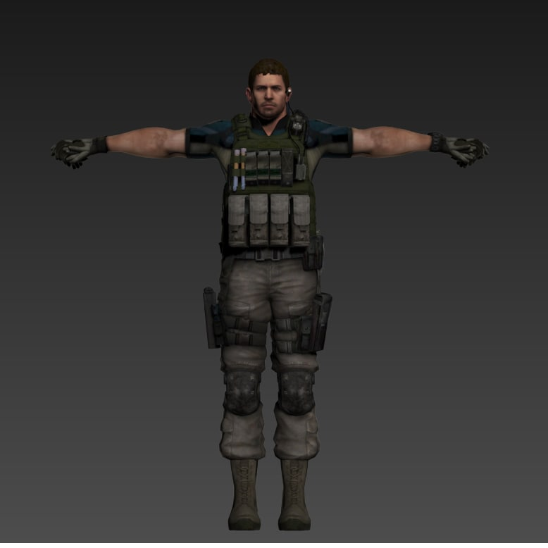 special forces soldier 3D model