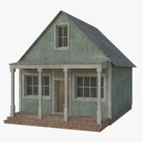 3D western building 6 model