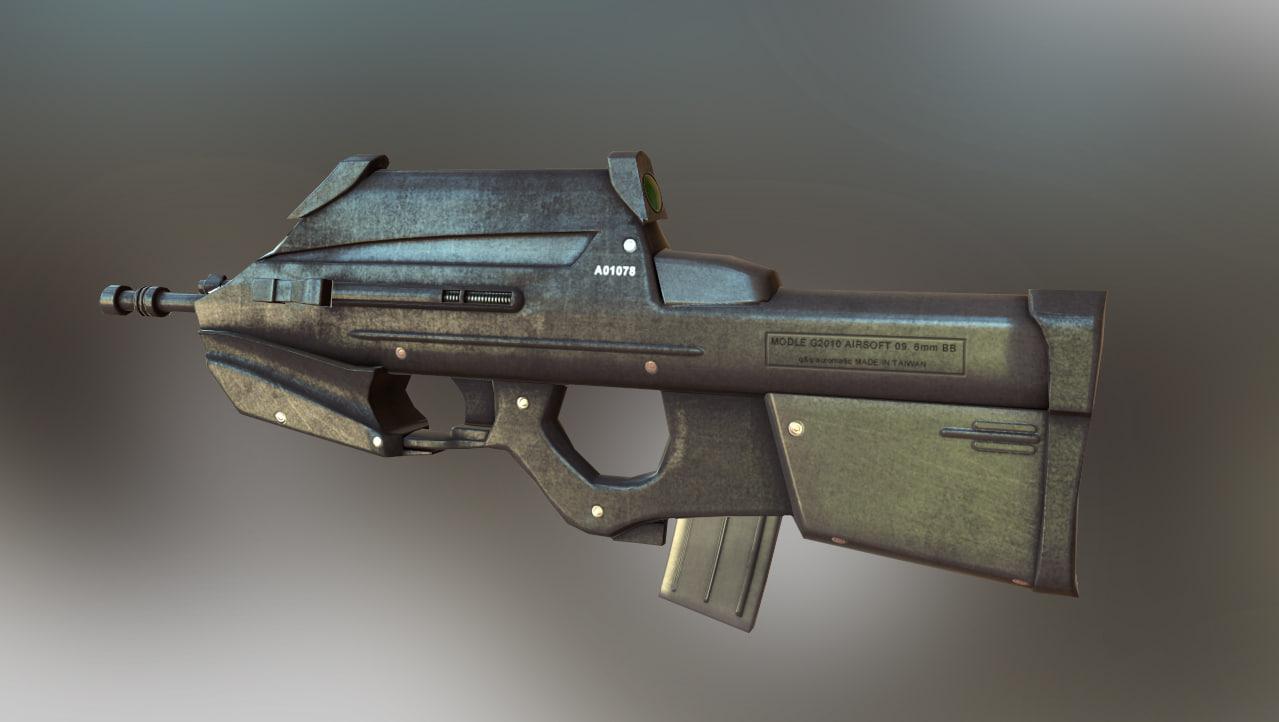 fn 2000 gun 3D