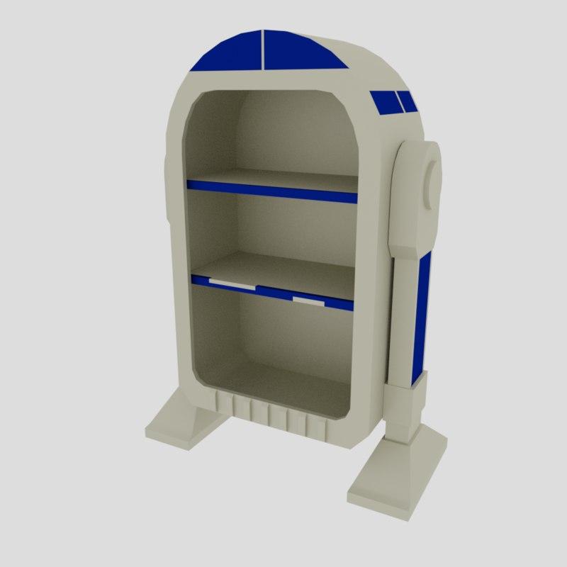 3D fantasy cabinet model
