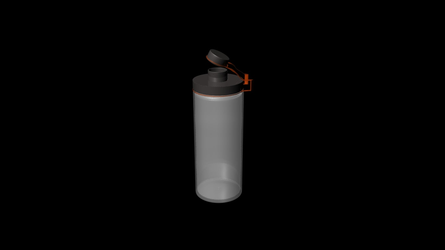 3D school water bottle model