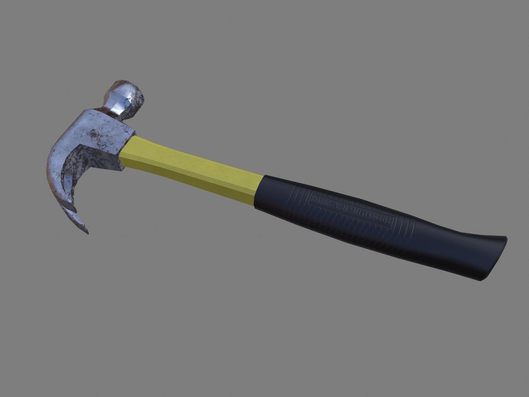 hammer tool unity 3D model