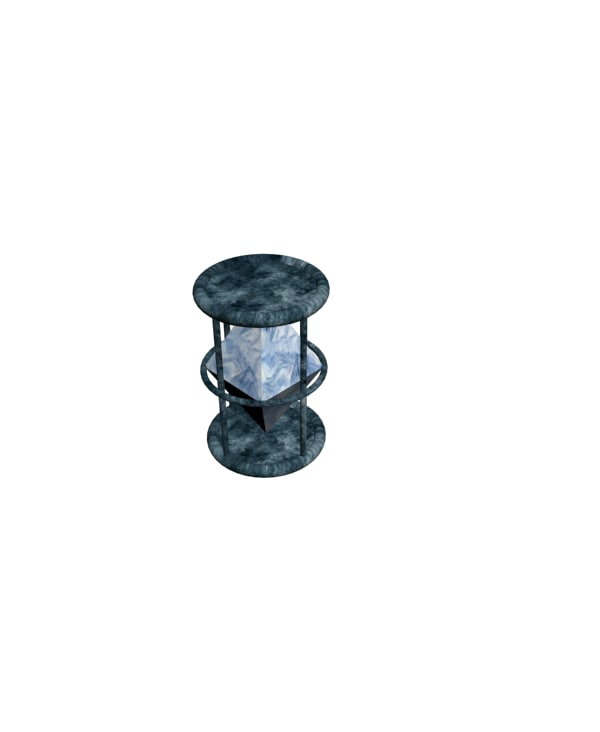 3D simple crystal lantern