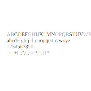 tinos font alphabet set 3D