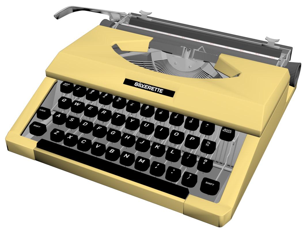 3D typewriter