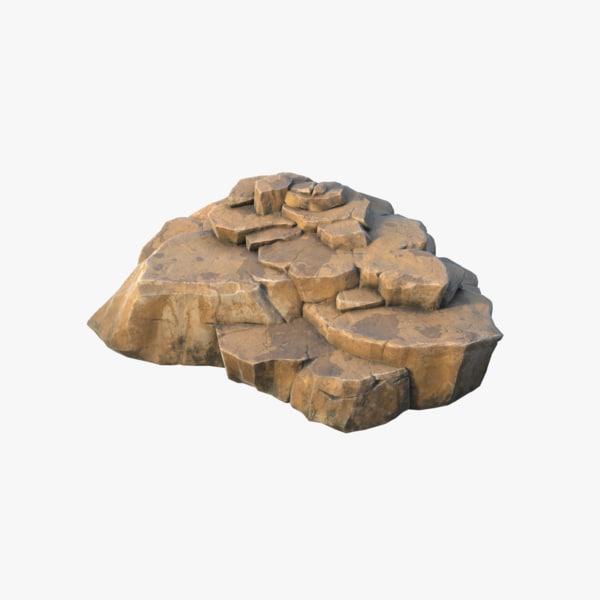 realistic rock pbr 03 3D model