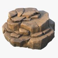 3D realistic rock pbr 04 model