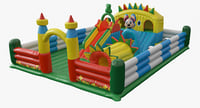 3D realistic inflatable playground model