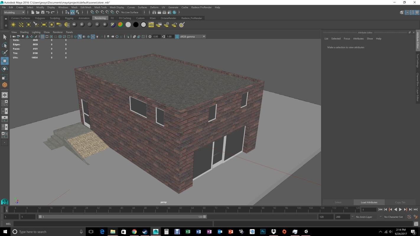 3D building store liquor