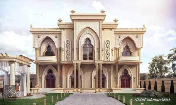 classic villa 2 - 3D model