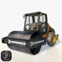 3D asphalt road roller vm200d