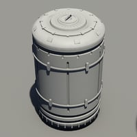 3D model sci-fi container -