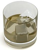 3D wiskey glass