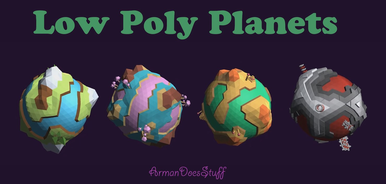 3D planet low-poly model