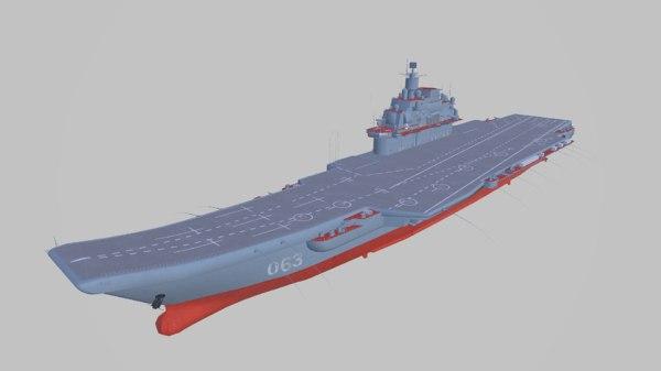 aircraft admiral kuznetsov model