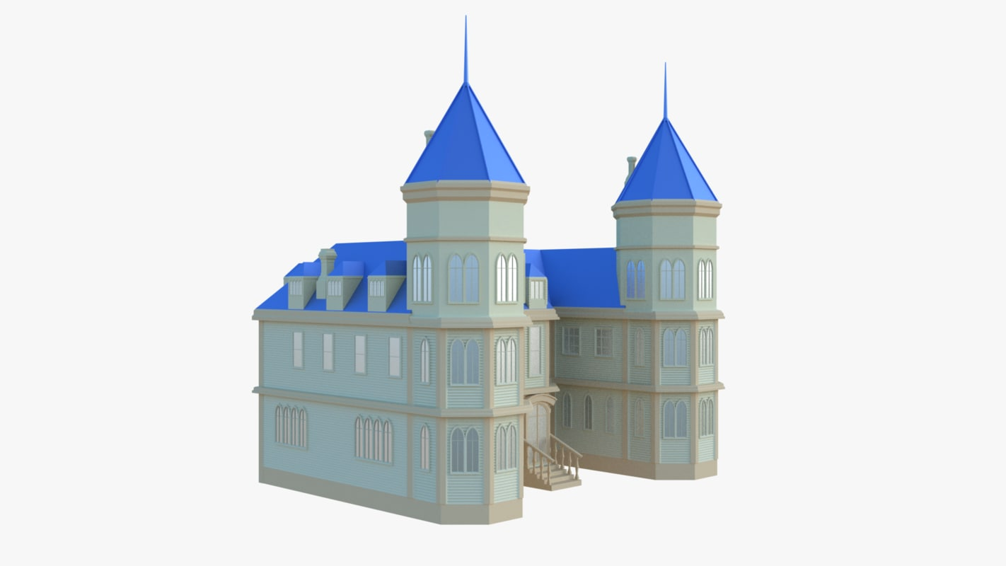 3D mansion castle model