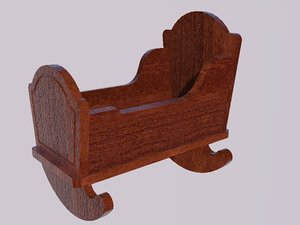 doll cradle 3D model