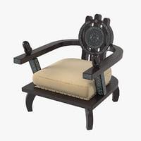 oriental chair 3D model