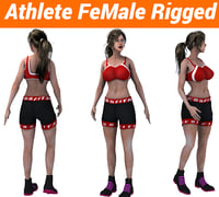 Athlete FeMale Rigged Character