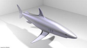 3D mako shark
