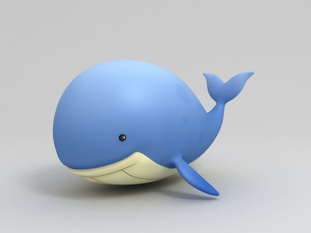 cartoon whale 3D model