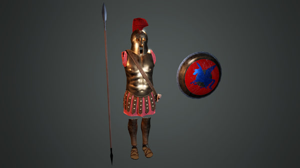 3D model ancient greek hoplite armour