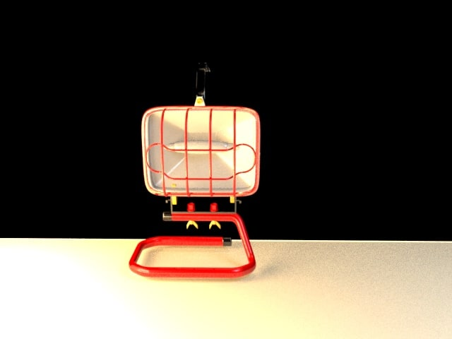 3D work light model