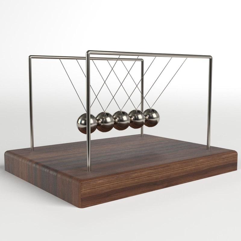 newton cradle 2 3D model