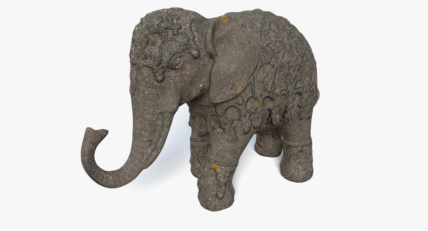 elephant statue 3D model