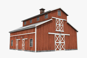 barn shed 3D