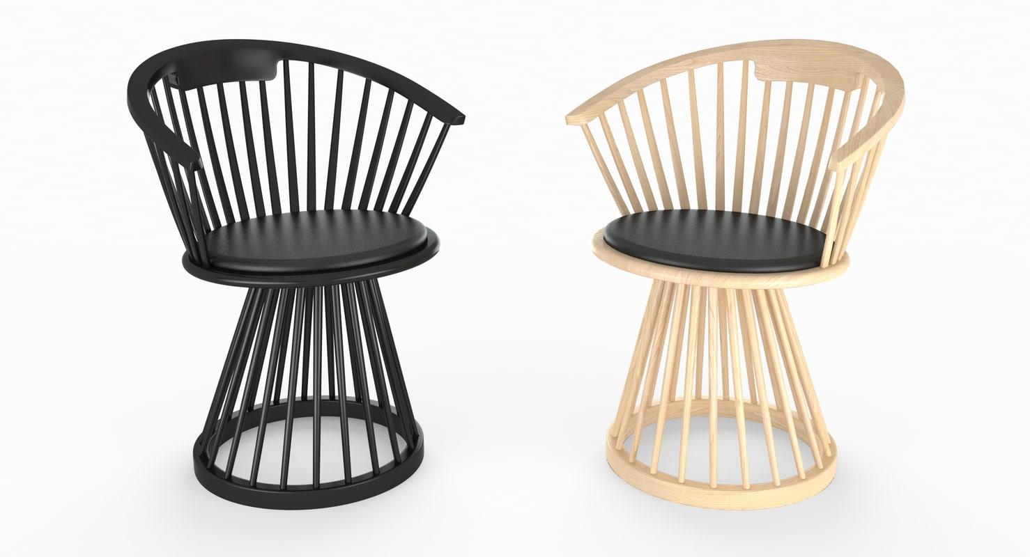 3D tom dixon fan dining chair