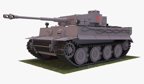 3D model german vi tiger