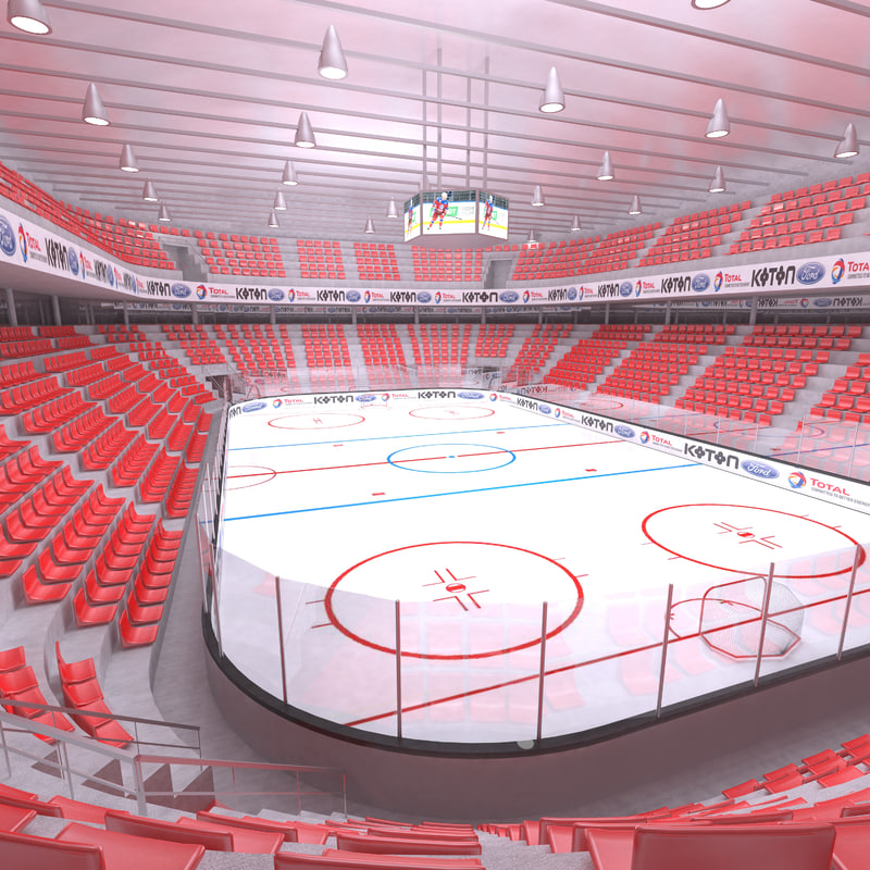 interior ice hockey 3D
