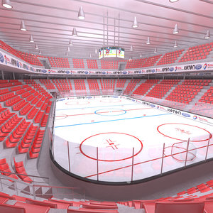 interior ice hockey 3D