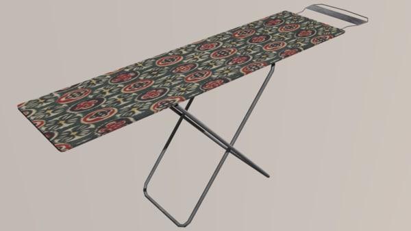 3D model board ironing