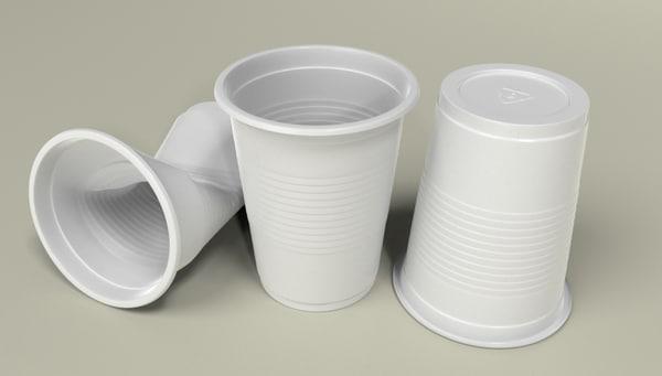 plastic cups 3D model