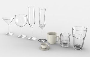 glass cup 3D