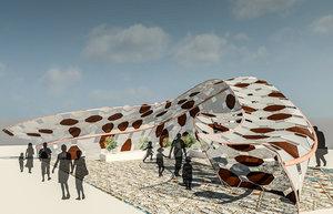 3D model parametric pavilion