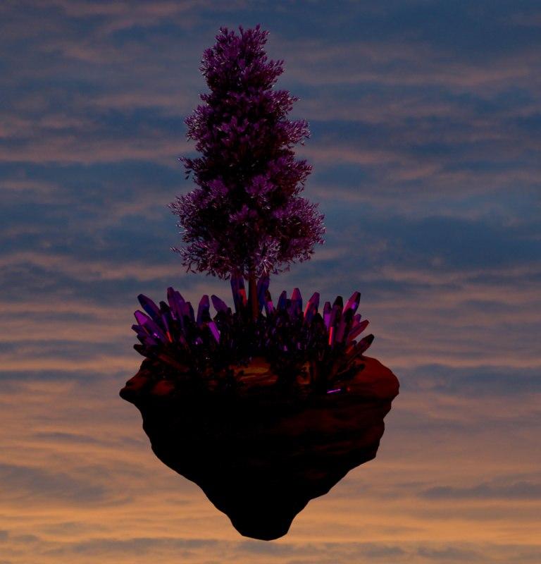 3D quartz tree